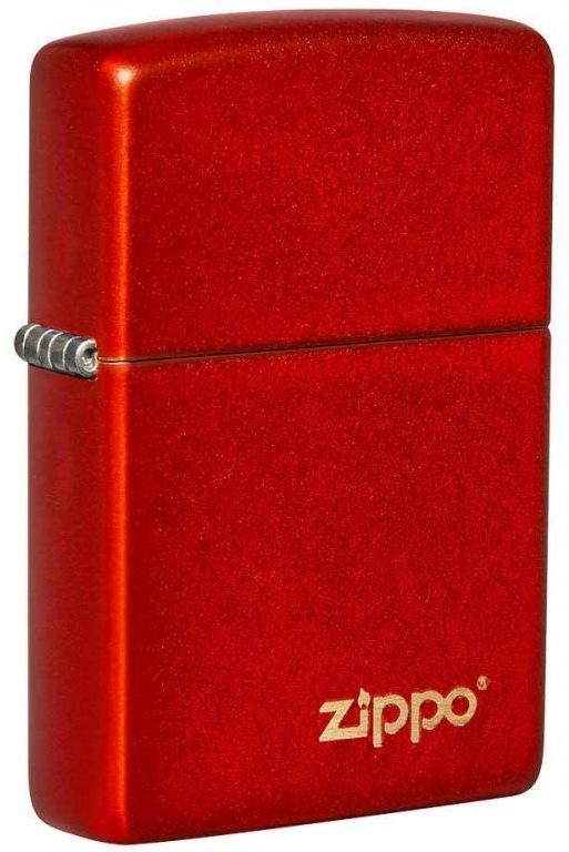 Benzínový zapalovač ZIPPO Metallic Red Zippo Logo