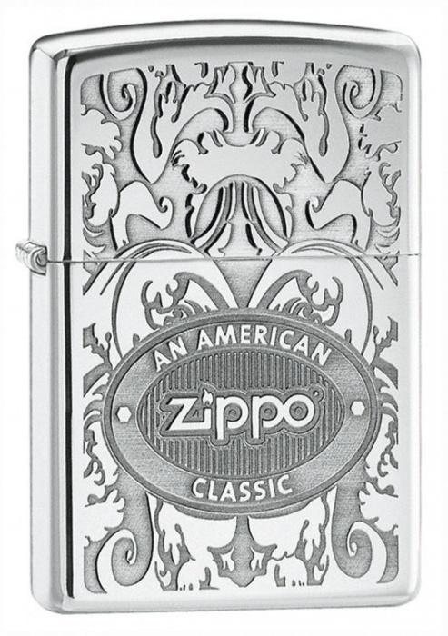 Benzínový zapalovač Zippo An American Classic II 22647 (Benzín Zdarma)