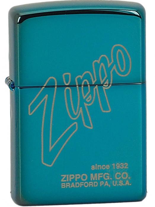 Benzínový zapalovač Zippo Sapphire™ Zippo Logo 26152 (Benzín Zdarma)