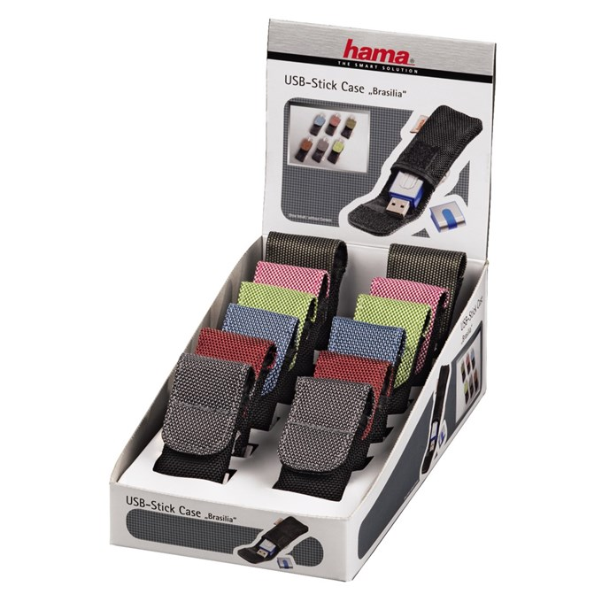Hama brasilia USB Stick Case, 12 pieces in a display box