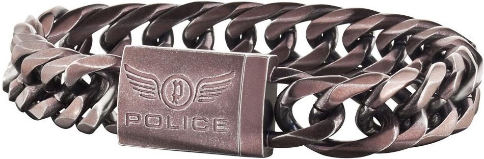 Náramek pánský z chirurgické oceli Police PJ25507BSEBR/2S