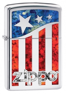 Zapalovač Zippo ZIPPO US FLAG 22977