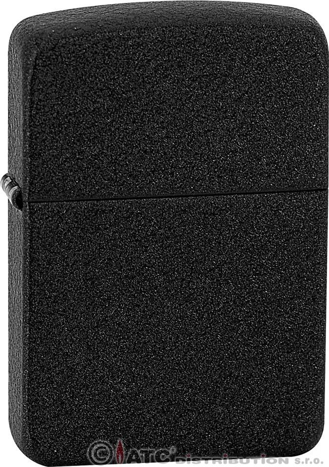 Zippo zapalovač Black 26601 (Benzín Zdarma)