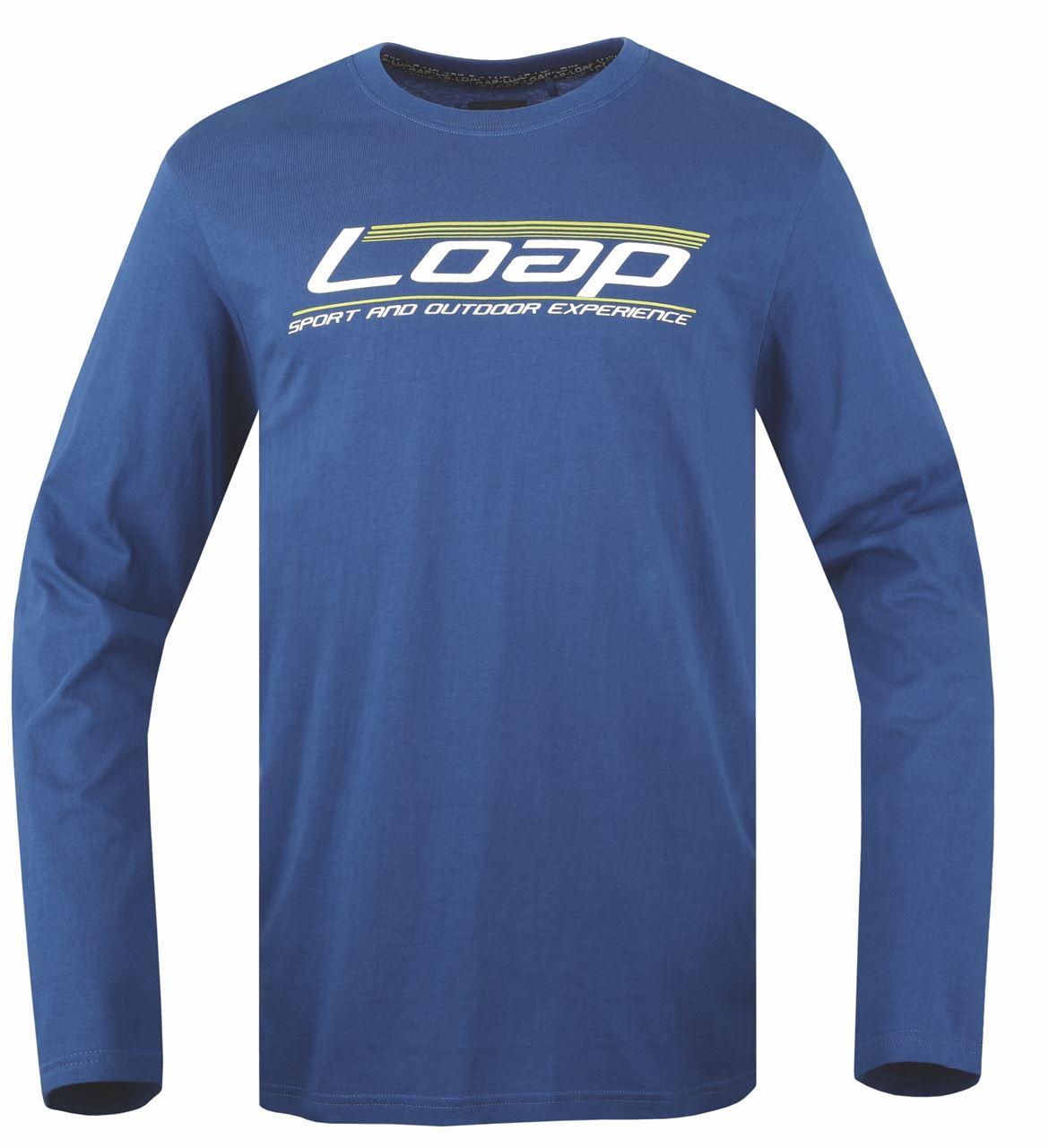 Pánské triko/dlouhý rukáv AKIM modrá