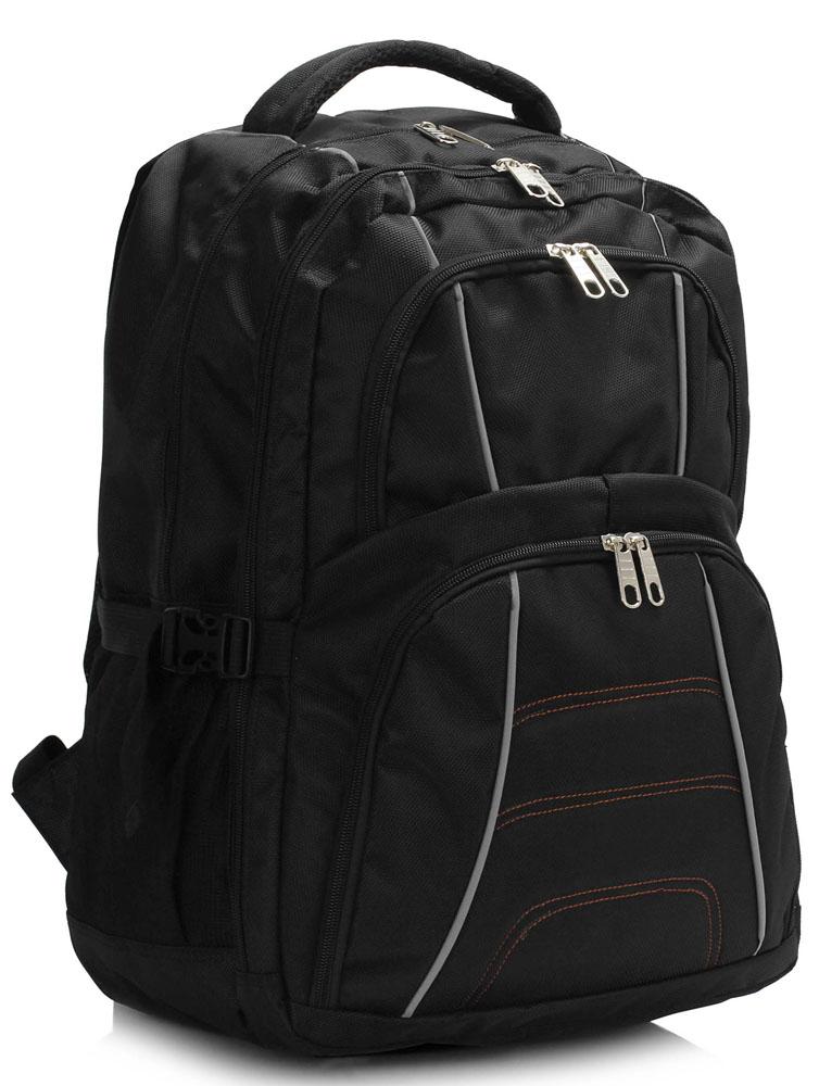 Batoh LS00444 - Black Backpack Rucksack School Bag