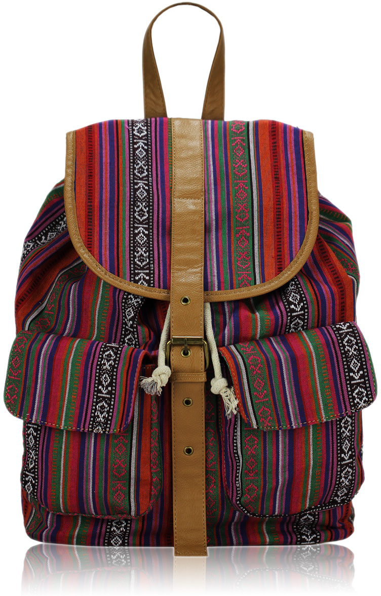 Batoh LS00269 - Pink Unisex Rucksack Shoulder Bag