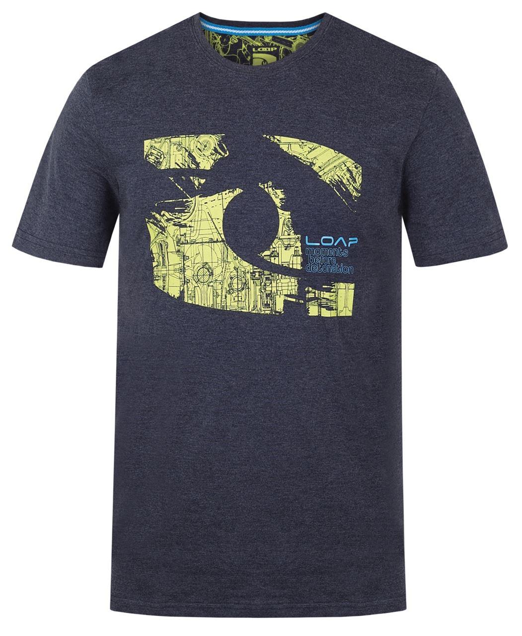 Pánské triko s krátkým rukávem LOAP BROOKE Modrá