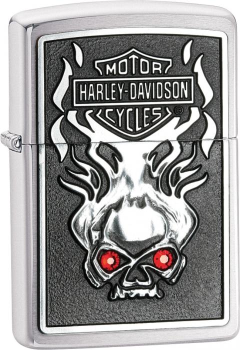 Benzínový zapalovač Zippo Harley-Davidson® 21702 (Benzín Zdarma)