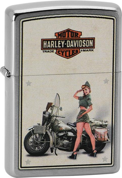 Benzínový zapalovač Zippo Harley-Davidson® 21749 (Benzín Zdarma)