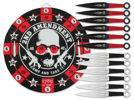 United Cutlery Second Amendment Throwing Knife Set