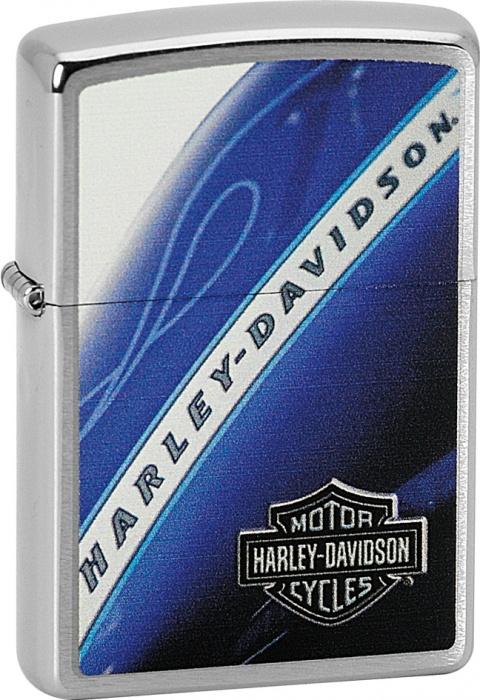 Benzínový zapalovač Zippo Harley-Davidson® 21724 (Benzín Zdarma)