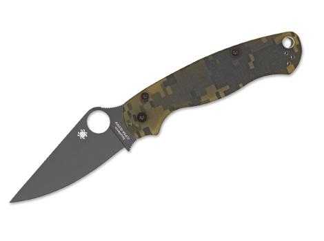 Kapesní nůž Spyderco Para-Military 2 Camo G-10 Plain BLK Blade
