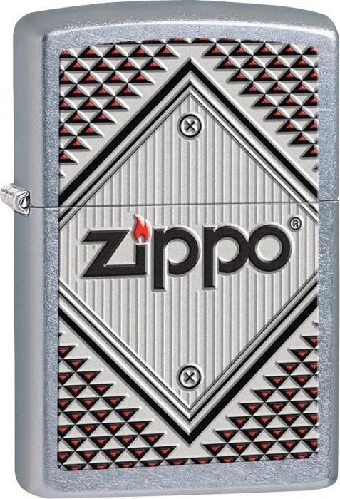 Benzínový zapalovač Zippo Red and Chrome 25343 (Benzín Zdarma)