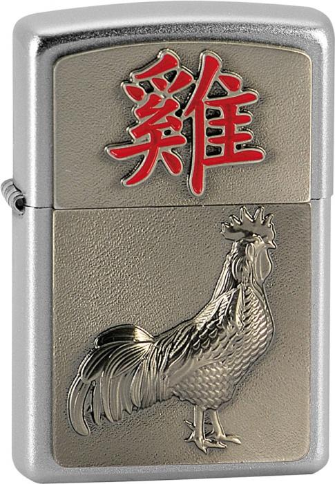 Benzínový zapalovač Zippo Year of the Rooster 20369 (Benzín Zdarma)