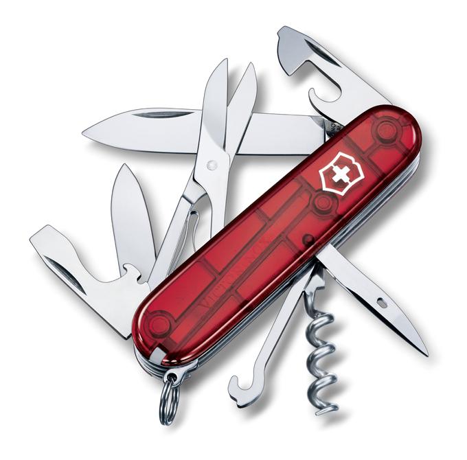 Kapesní nůž Victorinox Climber červený (Dárek -USB Flash disk 8 GB Zdarma)