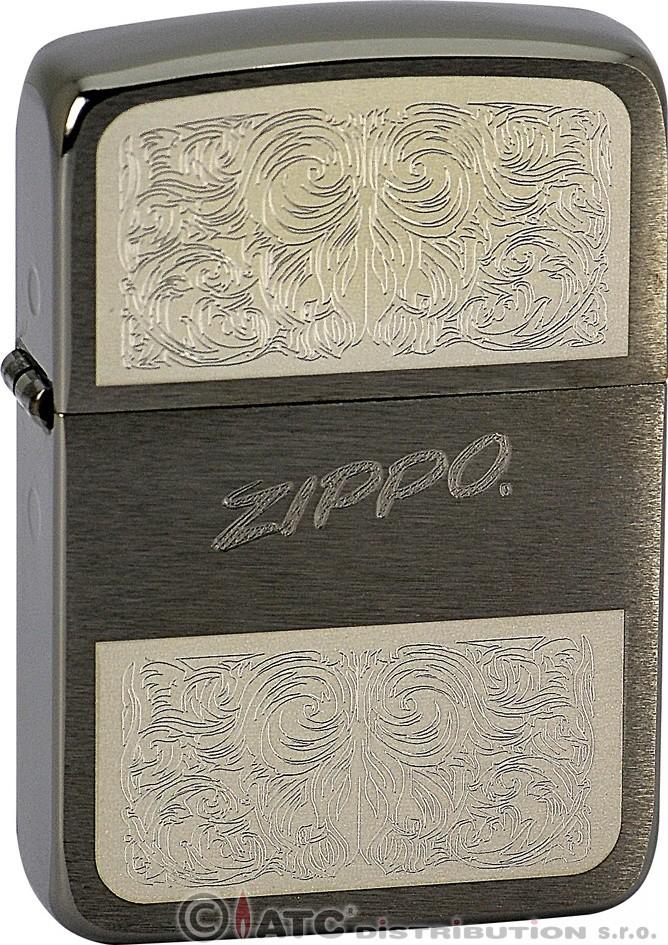 Zippo zapalovač Black 25326 (Benzín Zdarma)
