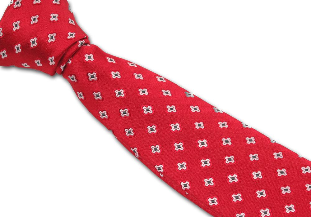 Červená pánská kravata s mašličkami