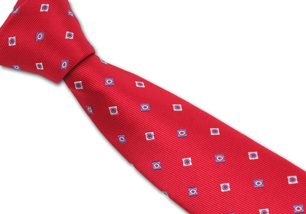 Červená pánská kravata se čtverečky
