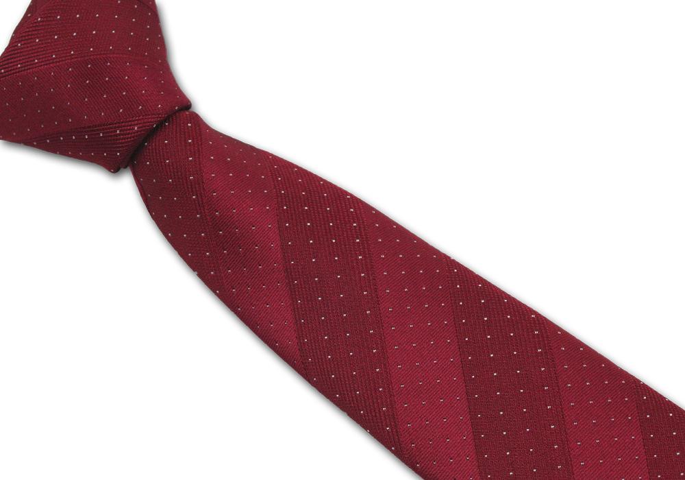 Červená pánská kravata s puntíky