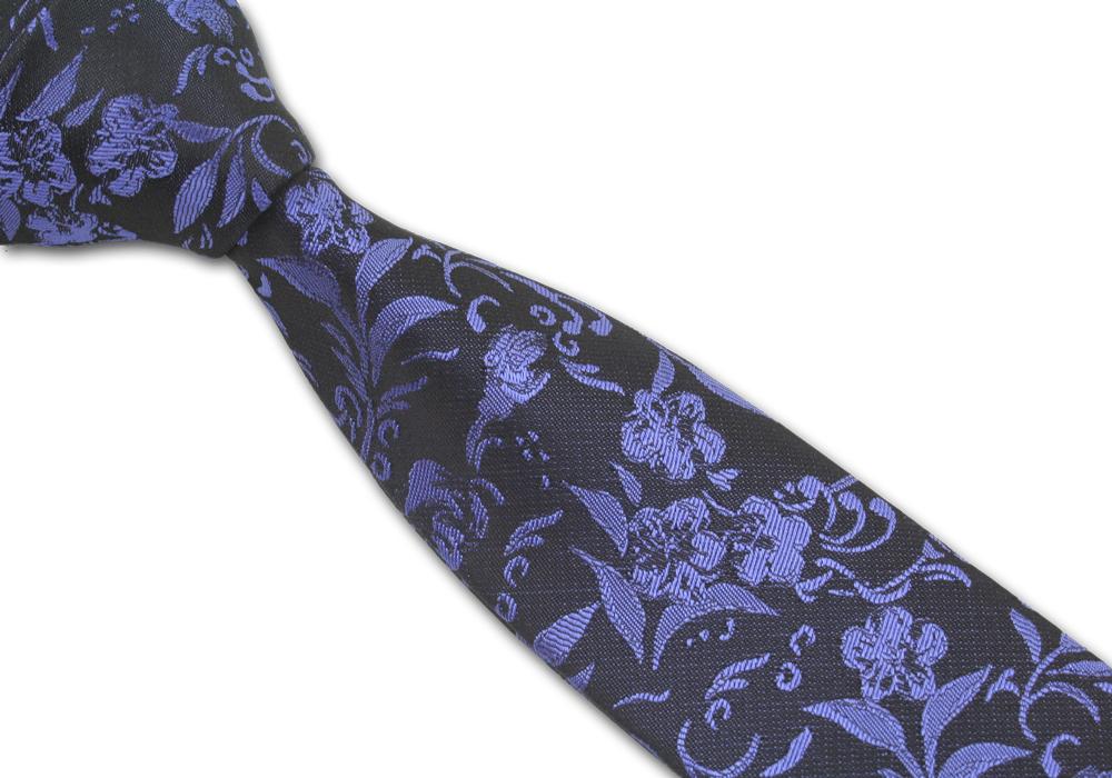 Pánská kravata modrá vzorkovaná