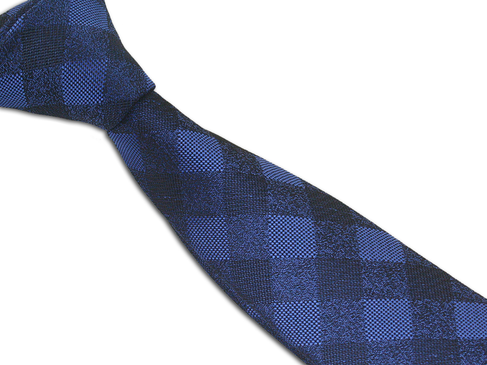 Pánská kravata modrá kostkovaná