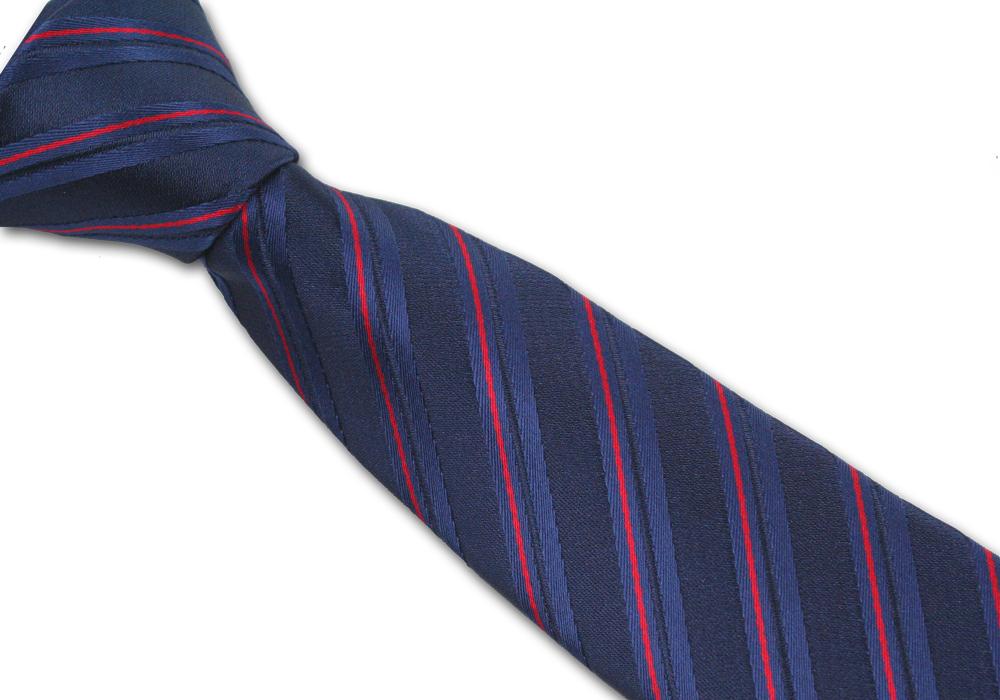 Tmavě modré pánská kravata s pruhy