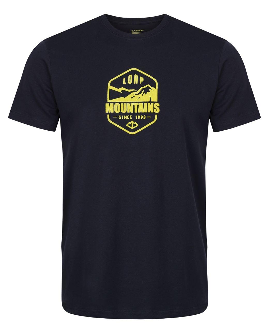 Pánské triko s krátkým rukávem LOAP Amor tmavě modrá
