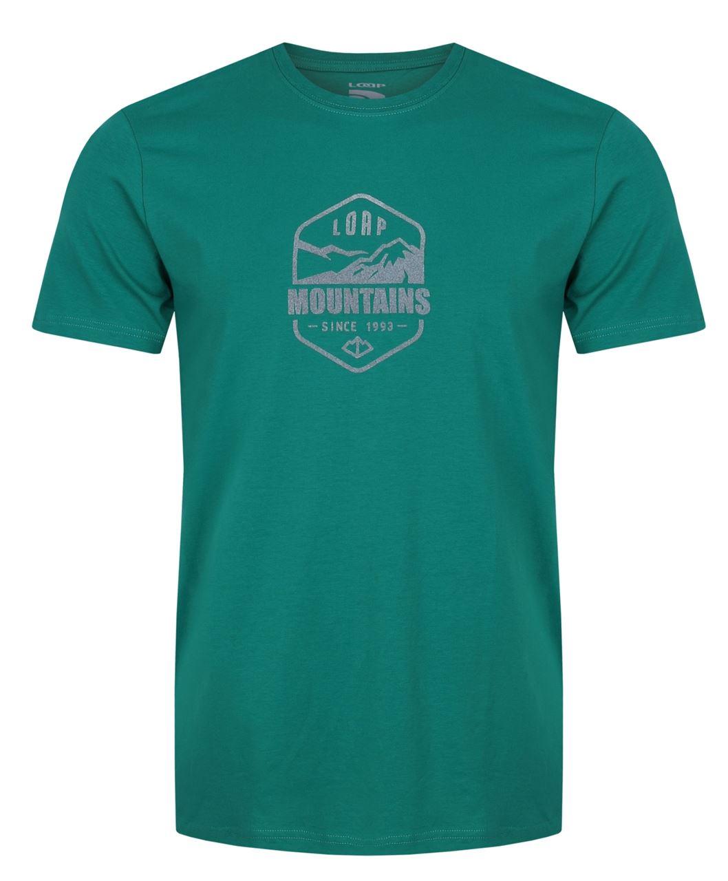 Pánské triko s krátkým rukávem LOAP Amor zelená
