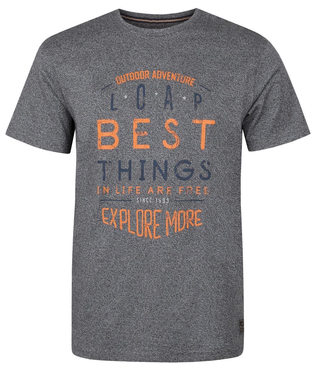 Pánské triko s krátkým rukávem LOAP BADRU šedá