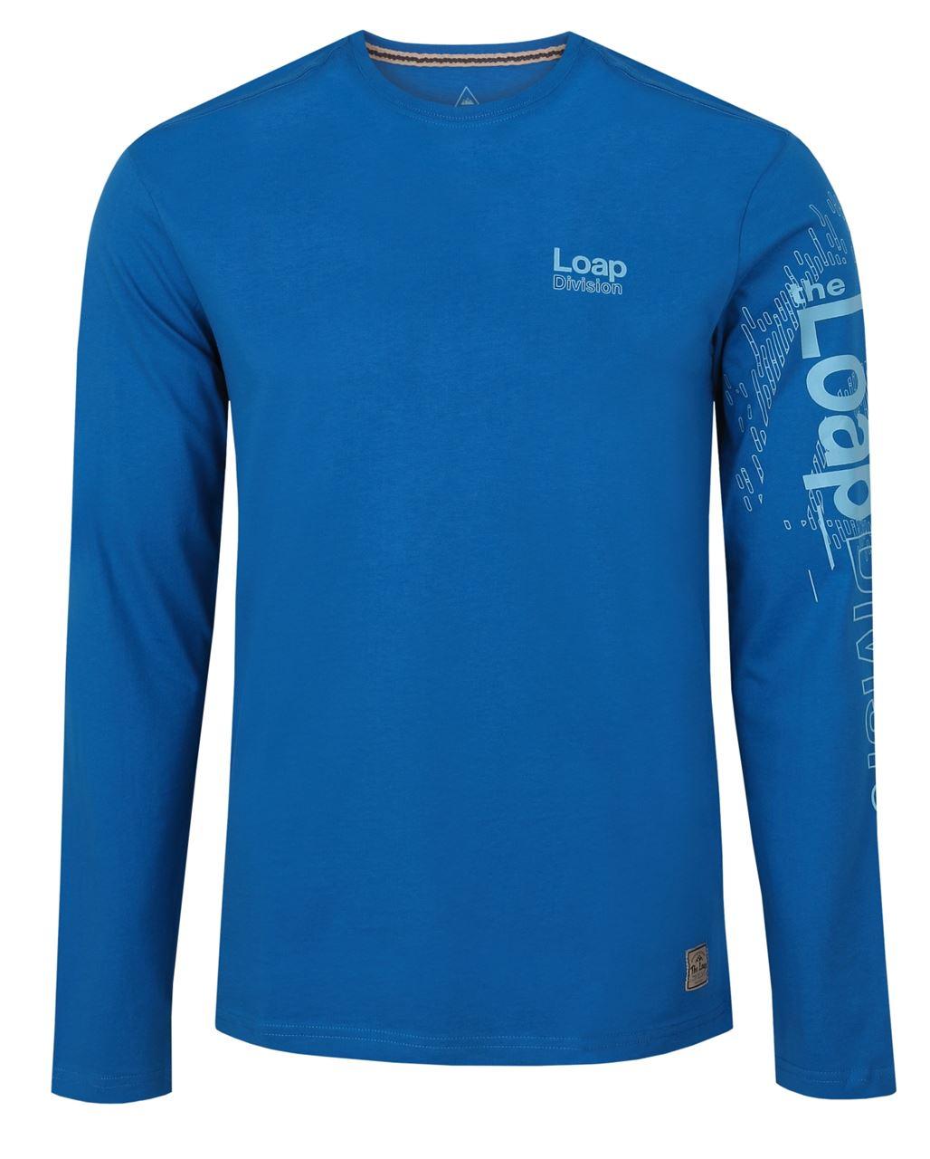Pánské triko/dlouhý rukáv BAHU modrá