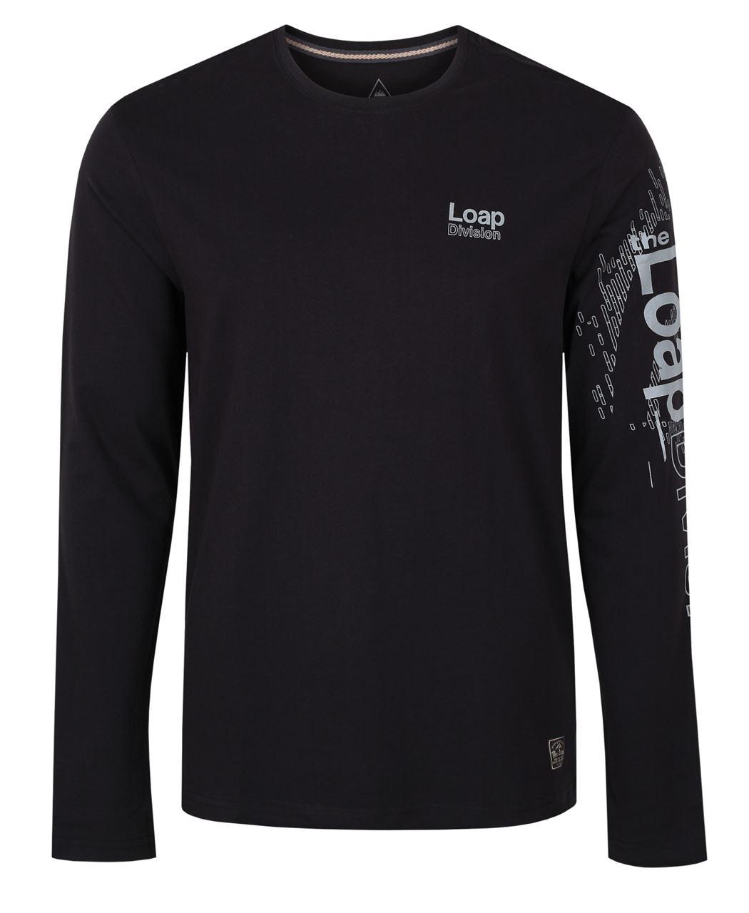 Pánské triko/dlouhý rukáv BAHU černá