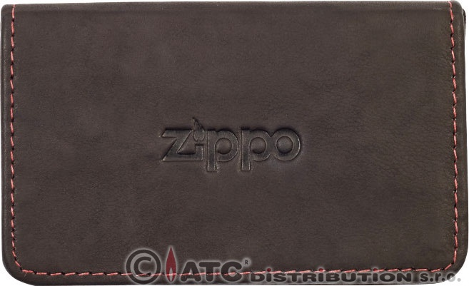 Kožené pouzdro na vizitky zippo 44114