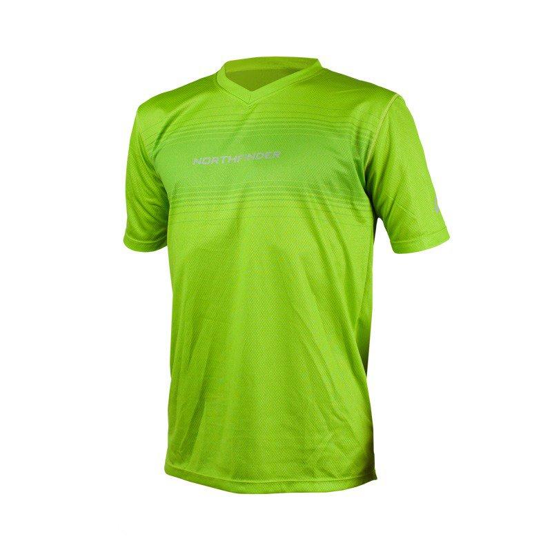 Pánské běžecké triko ROGAR zelená