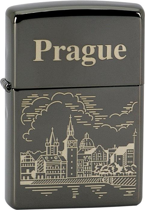 Benzínový zapalovač Zippo Prague 26560 (Benzín zdarma)
