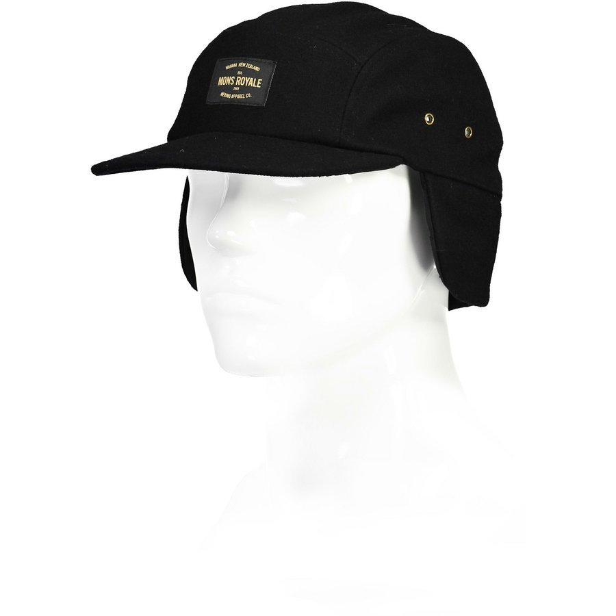 Kšiltovka WOOL TECH 5 PANEL black