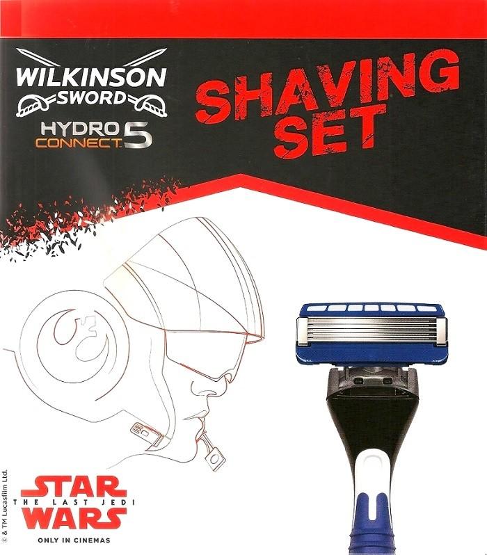 Wilkinson Hydro Connect 5 Star Wars holící strojek 5 břitý pro muže + náhradní hlavice 2 kusy, kosmetická sada
