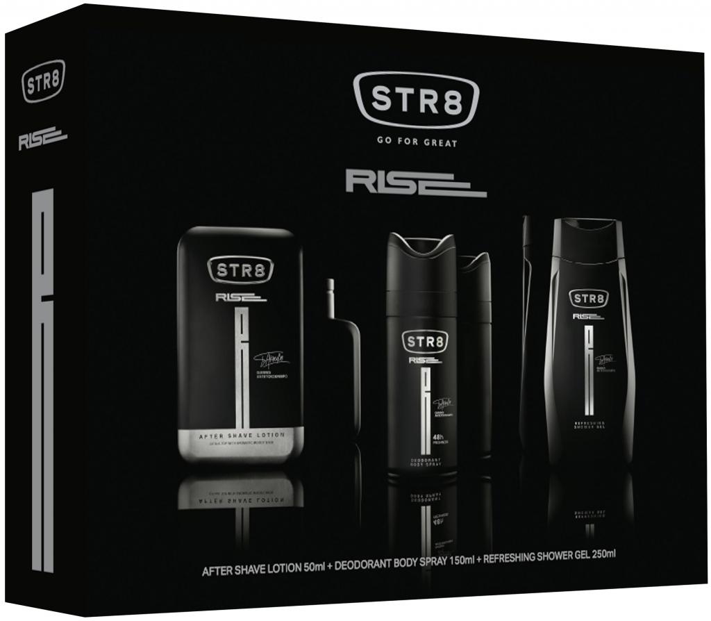Str8 Red Code voda po holení pro muže 50 ml + deodorant sprej 150 ml + sprchový gel 250 ml, kosmetická sada