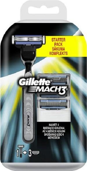 Gillette Mach3 holicí strojek pro muže 1 kus + náhradní hlavice 3 kusy