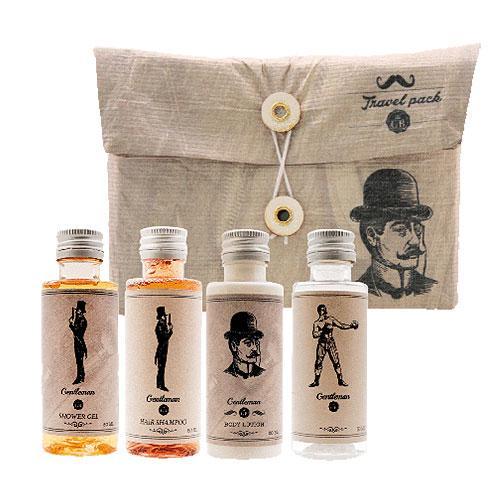 Cestovní kosmetika pro muže – gel 50ml, šampon 50ml, mléko 50ml