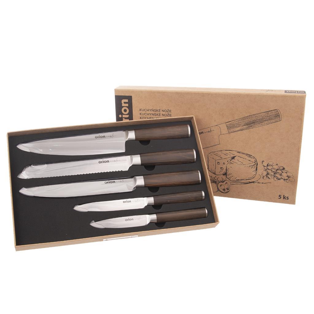 Sada kuchyňských nožů Wooden sada 5 Ks.