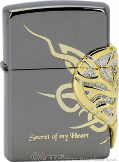 Benzínový zapalovač Zippo SECRET OF MY HEART EMB 28156