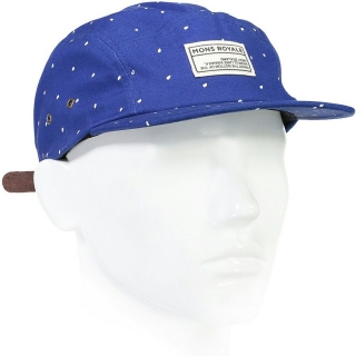 Kšiltovka BEATTIE 5 PANEL blue dot